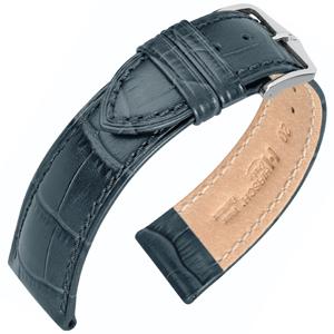Hirsch Duke Horlogebandje Alligatorgrain Grijs