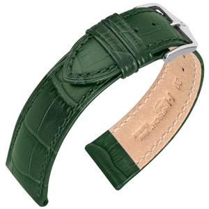 Hirsch Duke Horlogebandje Alligatorgrain Groen