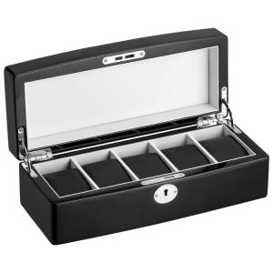 Eichmüller Pianolak Horlogebox met Sleutel - 5 horloges