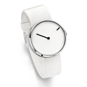 Jacob Jensen horlogeband Curve 253 Wit-Grijs Leer