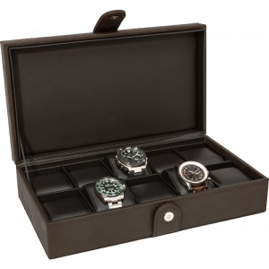 La Royale Classico 10 Horlogebox Bruin - 10 horloges