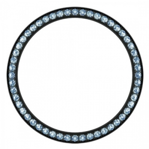 Marc Coblen Bezel 42mm Zwart Staal Blauwe Stenen - MCB42B211
