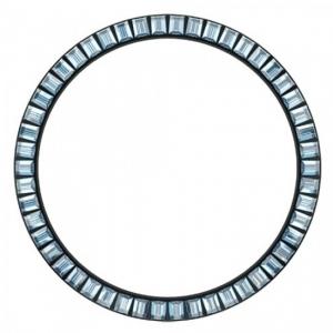Marc Coblen Bezel 45mm Zwart Staal Blauwe Stenen - MCB45B211