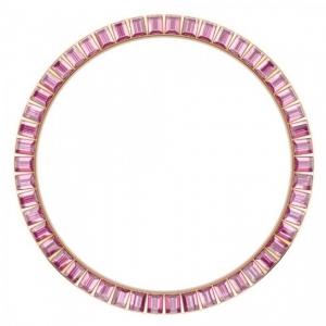 Marc Coblen / TW Steel Bezel 45mm Rosé Staal Roze Stenen - MCB45R209