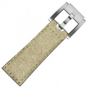 Marc Coblen / TW Steel Horlogeband Khaki Denim op Leer 22mm