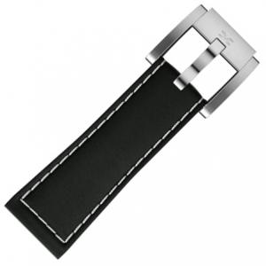 Marc Coblen / TW Steel Horlogeband Zwart Leer Glad 22mm