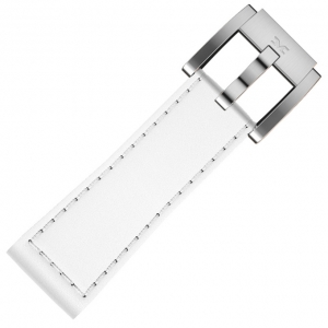 Horlogeband Wit Leer Glad 22mm - Marc Coblen
