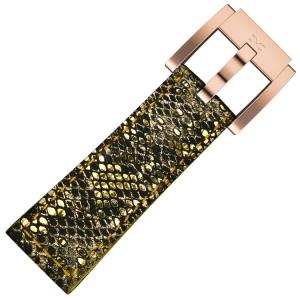 Marc Coblen / TW Steel Horlogeband Goud Glamour Leer Slang 22mm