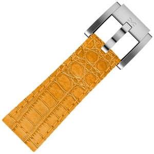 Marc Coblen / TW Steel Horlogeband Oranje Leer Alligator 22mm