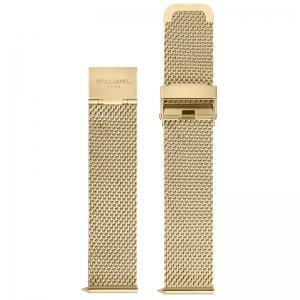 William L. Horlogeband Mesh Goud Gevlochten Staal 20mm