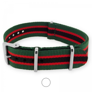 Regimental Green Red Black NATO G10 Military Nylon Strap