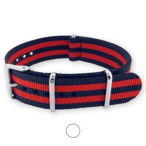 James Bond Navy Blue Red NATO G10 Military Nylon Strap