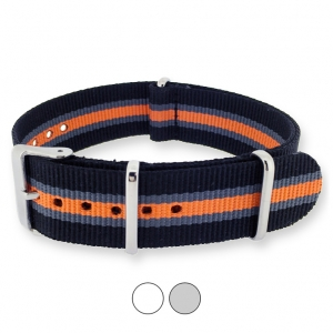 Heritage Black Gray Orange NATO G10 Military Nylon Strap