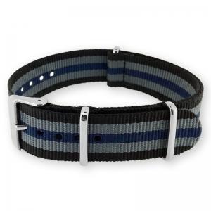 Black Gray Blue NATO G10 Military Nylon Strap - SS