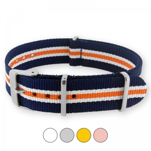 Heritage Blue White Orange NATO G10 Military Nylon Strap