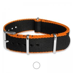 Black Orange Seatbelt NATO Deluxe Nylon Strap