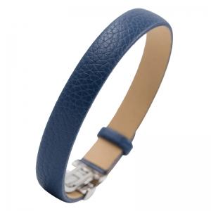 NIMA Atelier Seth Kalfslederen Armband met Vouwsluiting Blauw