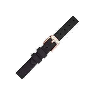 LLarsen / Lars Larsen Horlogeband Zwart Kalfsleer Leer Rose Gesp - 12mm