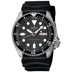 Seiko Horlogeband Zwart Rubber SKX013 - 20mm