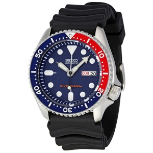 Seiko Z22 Horlogeband Zwart Rubber SKX009 - 22mm