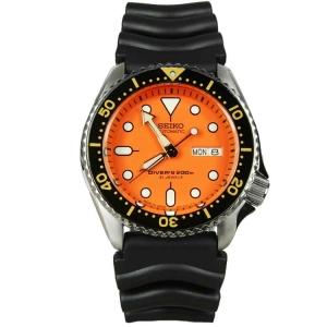 Seiko Z22 Horlogeband Zwart Rubber SKX011 - 22mm
