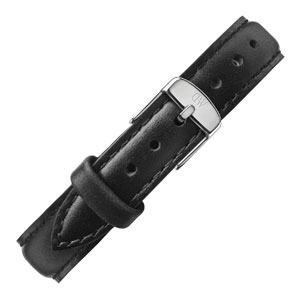 Daniel Wellington 13mm Classy Sheffield Zwart Leer Horlogebandje RVS Gesp
