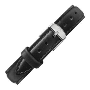 Daniel Wellington 12mm Petite Sheffield Zwart Leer Horlogebandje RVS Gesp