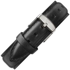 Daniel Wellington 20mm Classic Sheffield Zwart Leer Horlogebandje RVS Gesp