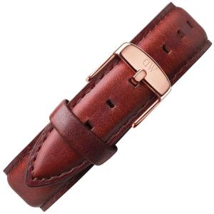 Daniel Wellington 18mm Classic St Mawes Bruin Leer Horlogebandje Rose Gesp