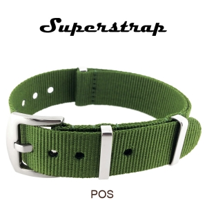 Superstrap MEGA NATO Nylon Strap Groen - SS/Matte