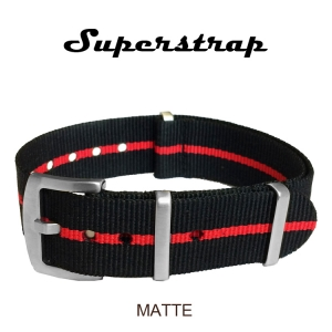 Superstrap MEGA NATO Nylon Strap Skunk Rood - Matte