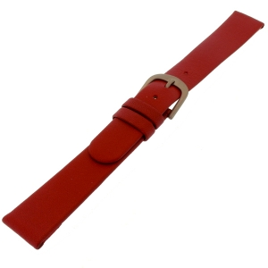 Danish Design Rode Horlogeband Kalfsleer met Titanium Gesp