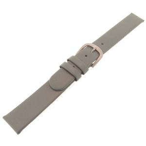 Danish Design Grijze Horlogeband Kalfsleer met Titanium Gesp