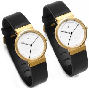 Jacob Jensen horlogeband 873, 893 zwart leder 17mm