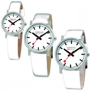 Mondaine Horlogebandje Wit Leer