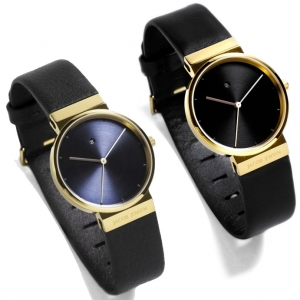 Jacob Jensen horlogeband 856, 857 zwart leer 17mm
