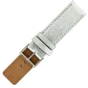 OOZOO Horlogebandje Zilver Leer