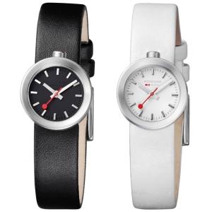 Mondaine Aura horlogebandje wit of zwart type 30324