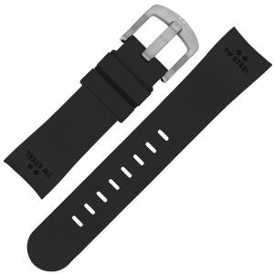 TW Steel Horlogebandje TW23, TW40, TW42, TW98 - Zwart Rubber 22mm