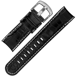 TW Steel Horlogebandje TW51 - Zwart Kroko Kalfsleer 24mm
