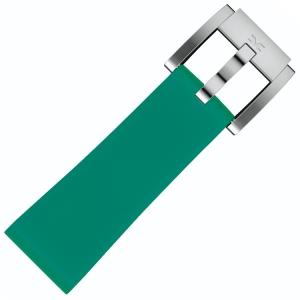 Silicone Horlogeband Smaragd Groen 22mm - Marc Coblen
