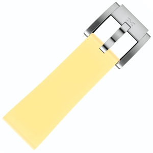 Silicone Horlogeband Pastel Geel 22mm - Marc Coblen