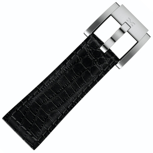 Marc Coblen / TW Steel Horlogeband Zwart Leer Alligator 22mm