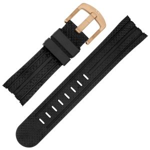 TW Steel Horlogebandje TW76, TW90, TW91, TW93, TW702 - Zwart Rubber 22mm
