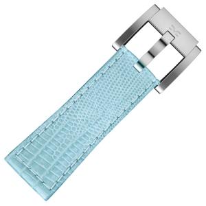 Marc Coblen / TW Steel Horlogeband Lichtblauw Leer Slang 22mm