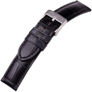 Glycine Horlogeband Kroko Kalfsleer Zwart - LBK9
