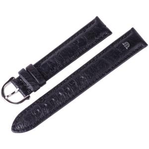 Maurice Lacroix Horlogeband Struisvogel Zwart 15 en 17 mm