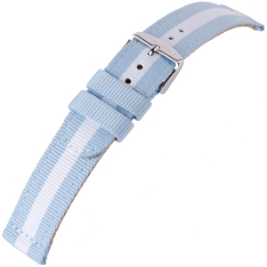 Nylon Horlogeband RAF Military Style Cloud Argentina Blue White 20mm - SS/YG/RG