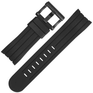 TW Steel Grandeur Tech Horlogebandje Zwart Rubber TW129 - 24mm
