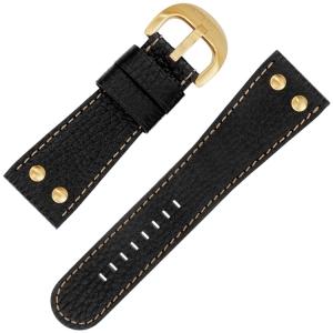 TW Steel Horlogebandje TW82, TW114 Zwart 30mm